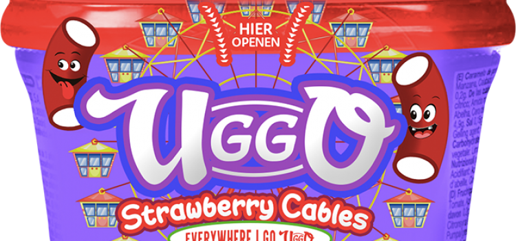 Uggo, candy, strawberry, cables, snoep, snoepjes, hersluitbaar, pot